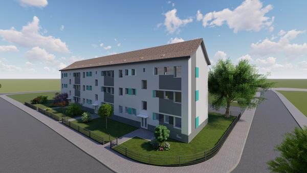 Architekturvisualisierung Aussenansicht Wohnblock