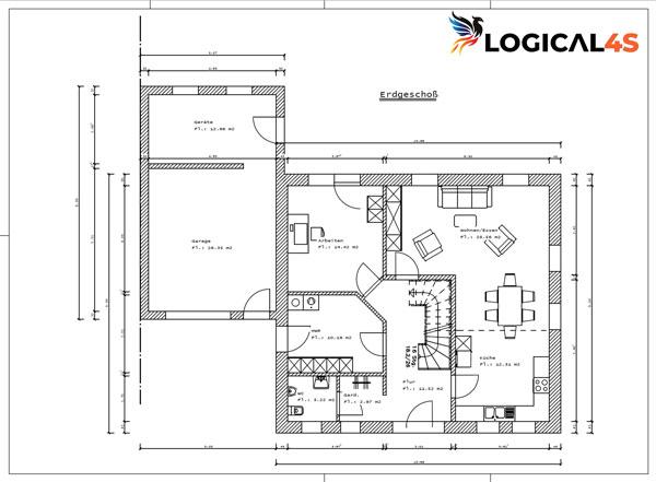 CAD Bauzeichnung